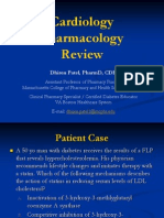 11 09 15.Cardiology Pharmacology Review.patel