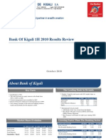 Bank of Kigali  1H 2010 Results Update