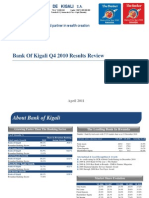 Bank of Kigali 2010 Q4 2010 Results Update