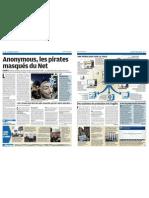 Anonymous, les pirates masqués du Net - Le Parisien - 27 décembre 2011