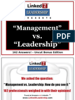 Management vs Leadership - Linked 2 Leadership