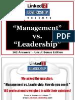 Management vs Leadership - Linked 2 Leadership