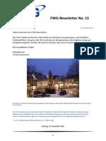 FWG Oelde - Newsletter Nummer 15 - Dezember 2011