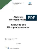 Sistemas Microcontrolados - Evolução dos Microprocessadores