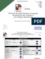 PONENCIAS Primeras Jornadas Chileno - Uruguayas de Derecho Del Trabajo y S.S.