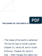 The Shape of the Earth is Spherical