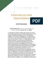 Entrevista a Jesús Martín-Barbero, por J. Kraniauskas