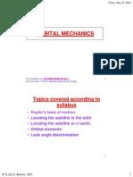 Orbital Aspects of Satellite Communications