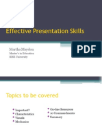 Delivering Effective Presentations- RISE University