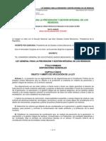 LEY GENERAL PARA LA PREVENCIÓN Y GESTION DE LOS RESIDUOS SOLIDOS