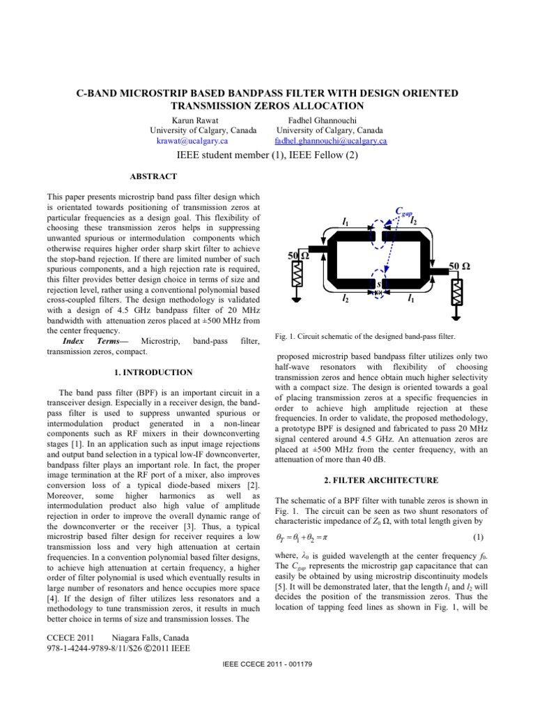 Ring Filter Electronic Electromagnetism Tunable Band Pass Circuit