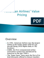 American Airlines' Value Pricing
