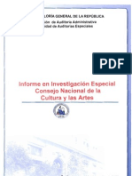 INFORME 54 INVESTIGACION ESPECIAL CONTRALORIA AL CNCA 22-12-2011