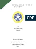 Pengaruh Pers Terhadap Proses Demokrasi di Indonesia