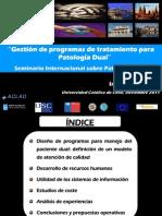 Gestión de Programas de Tratamiento para Patología Dual, Indalecio Carrera
