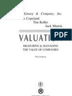 mckinsey Valuation measuring the value of companies Tim Copeland, Tim Koller, Jack Murrin