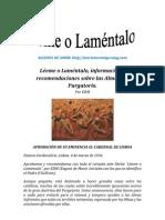 LÉEME O LAMÉNTALO | ALIANZA DE AMOR