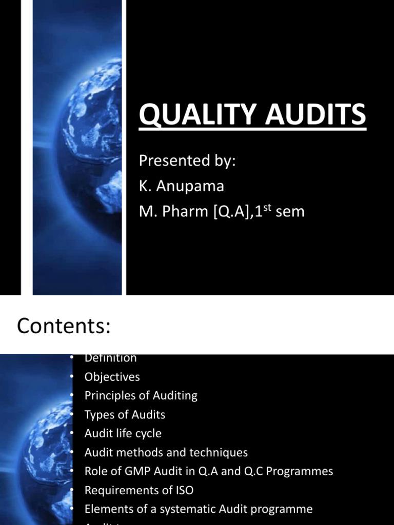 Quality Audits | Quality Management System | Audit