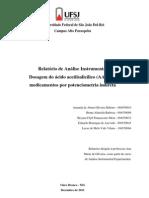 RELATORIO 4 - Dosagem do ácido acetilsalicílico (AAS) em medicamentos por potenciometria indireta