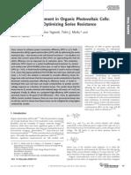 Jonathan D. Servaites et al- Efficiency Enhancement in Organic Photovoltaic Cells