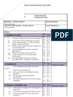 DSE Risk Assessment Checklist Oct 2011