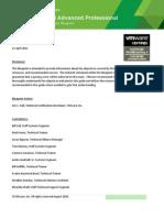 VCAPDCA Exam Blueprint Guide 1.9