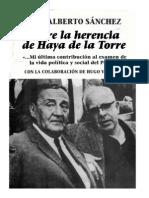 Sobre la herencia de Haya de la Torre (extractos) por Luis Alberto Sánchez
