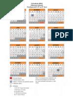 Calendario M2