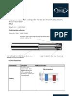 Xfeed Endmill Data