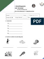 Evaluación LENGUAJE 18 - 11