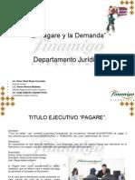 Presentacion Pagare y La Demanda