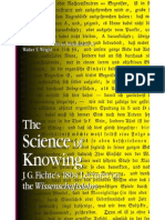 Fichte the Science of Knowing
