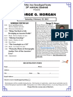 Whittier Area Genealogical Society (WAGS) Genealogy Seminar Feb 2012