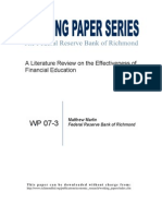 A Literature Review on the Effectiveness of Financial Education (1)