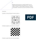 simulacion del movimiento de un caballo de ajedrez