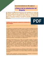 PRESENTE Y FUTURO DE LA ORIENTACION EN ESPAÑA