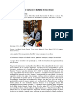 Entr-Pozuelo Yvancos Lanzamiento Ideas literarias literatura española