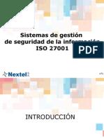 Sistemas de Gestion de Seguridad de La ion Iso 27001