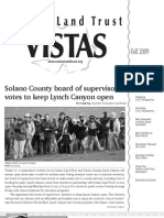 Fall 2009 Vistas Newsletter, Solano Land Trust
