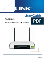 TL-MR3420 User Guide
