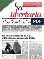 Cuba Libertaria, nº 17, octubre 2010 - Los 'cambios' en Cuba