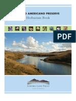 2011 Estero Americano Preserve Herbarium Book