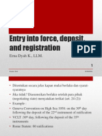 1 Entry Into Force, Deposit, And Registration