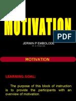 Motivation - PhD PASA 303