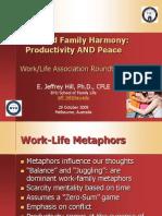 Work-Life Harmony Productivity and Peace (10!29!08)