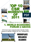 Top 10 CSR Moments of 2011