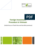 Bamboo Foreign Investment Procedure in VN