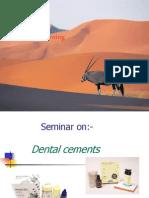 Seminar on Dental Cements