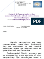 Synthesis & Character is at Ion of Silver Nano Particles From The