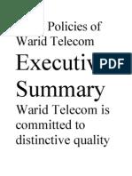 HRM Policies of Warid Telecom